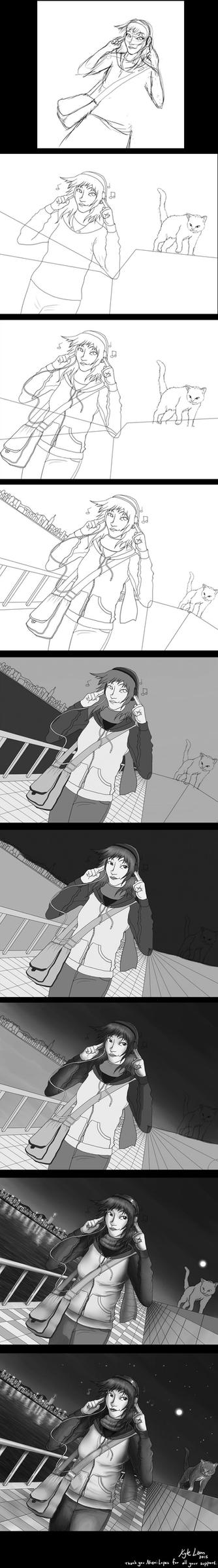 Summer Stroll (Progression) by DC-KMOS