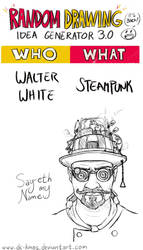 Randraw: Steampunk Walter White by DC-KMOS