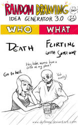 Randraw: Death Flirting With Someone by DC-KMOS