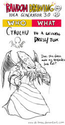Randraw: Cthulhu in a Wedding Dress by DC-KMOS