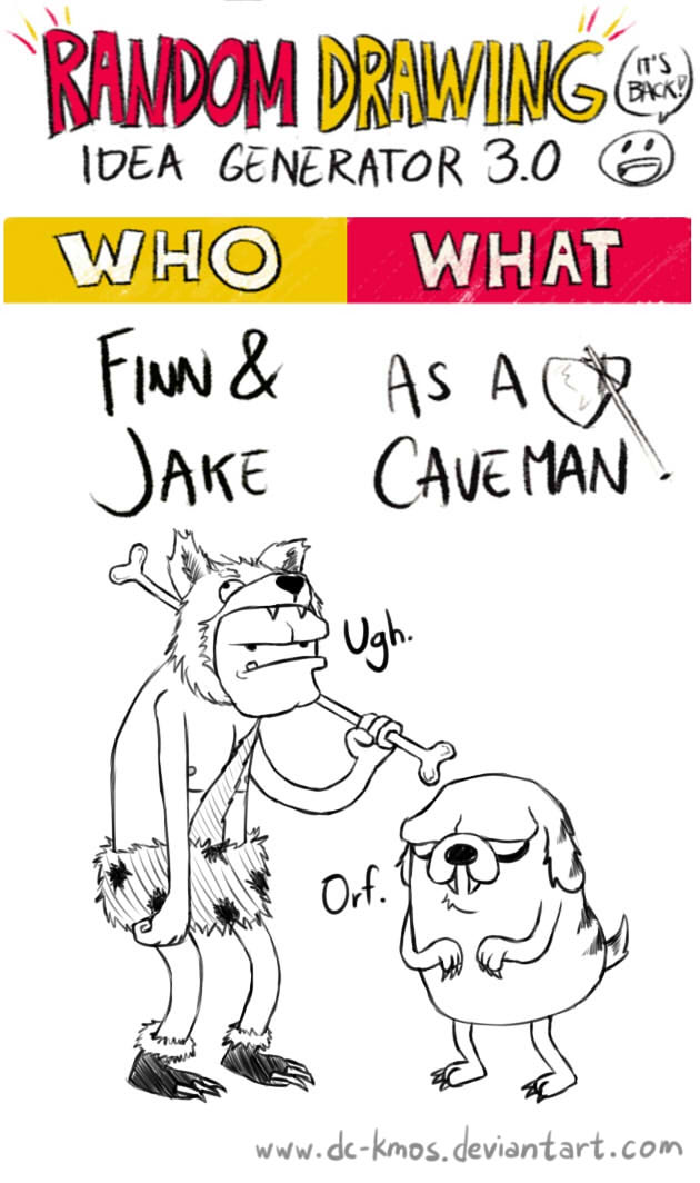 Randraw: Finn and Jake as Cavemen by DC-KMOS