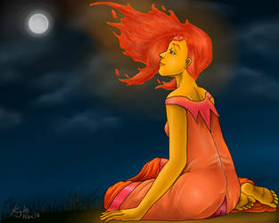 Flame Princess - Adventure Time by DC-KMOS