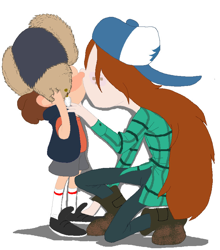 Gravity Falls Dipper And Wendy Kiss