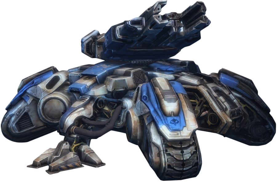 SC2 Siege Tank Render by ebug9