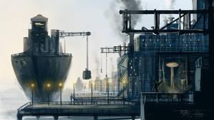 Industrial Docks Speed Paint