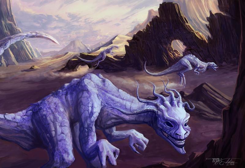 lovecraft dreamlands ghasts by itosaithwebb on deviantart