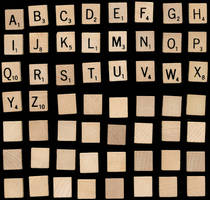 Scrabble Tiles by ghostforms