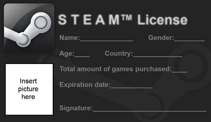 Steam License - Blank (Improved)