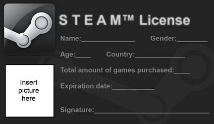Steam License - Blank (Improved) by Cowboygineer