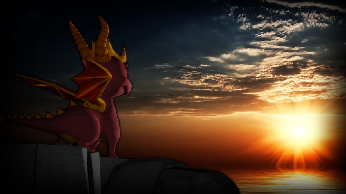 Spyro The Dragon Sunset Wallpaper By Cowboygineer