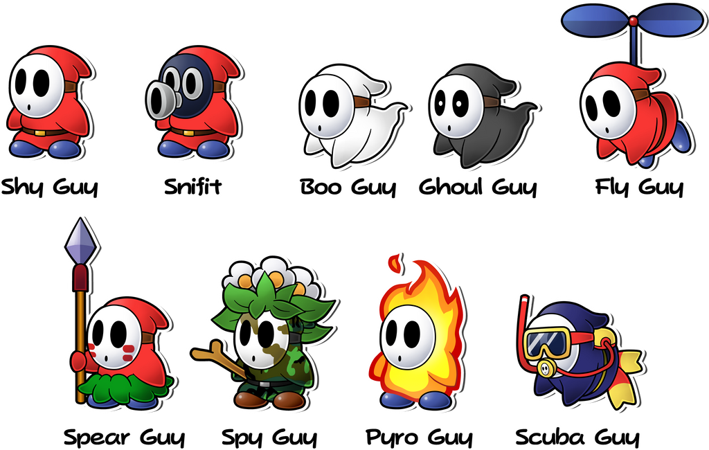 Mario dry bones coloring pages bing images for Shy guy coloring pages