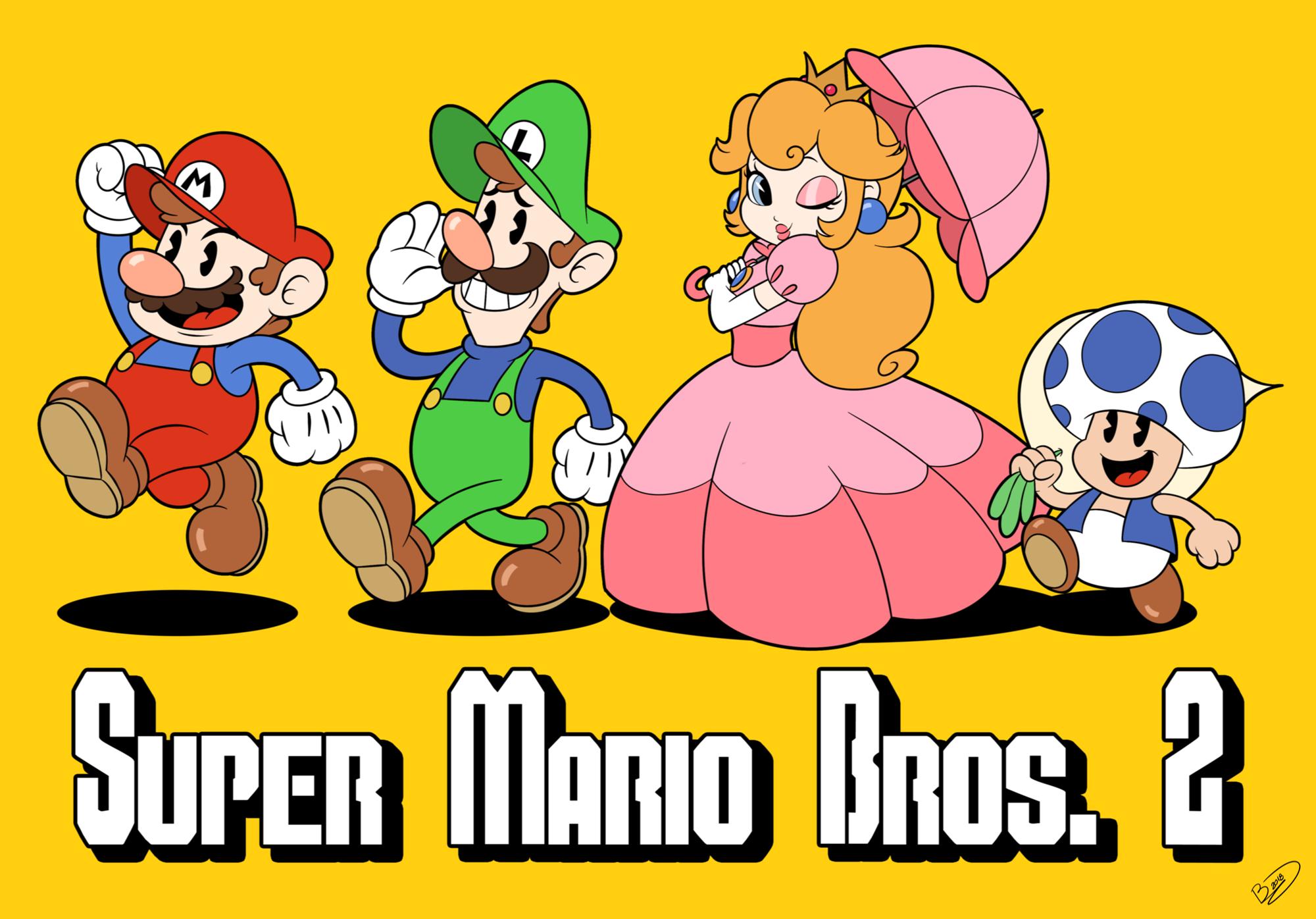 Super Mario Bros 2 By Zieghost On Deviantart