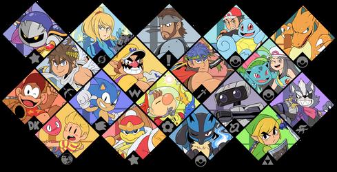 Super Smash Bros. Ultimate - Brawl Fighters by Zieghost