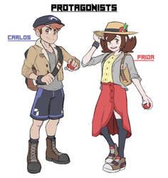 Pokemon Mirage - Protagonists