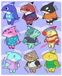 Animal Crossing Concept - Shark Villagers