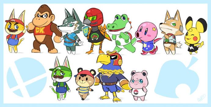 Nintendo Crossing ~ Smash 64 Villagers