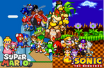 Mario and Sonic wallpaper (2015)