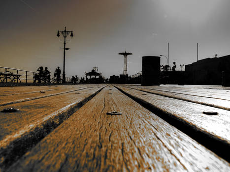 Boardwalk silhouette