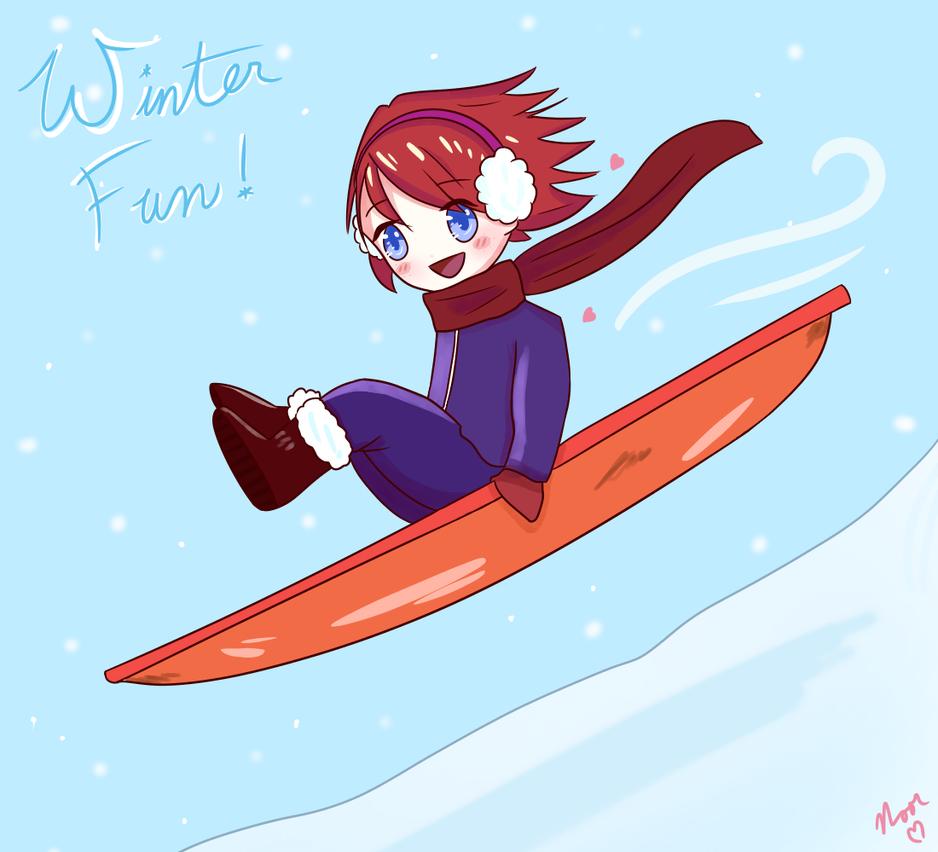 Winter Fun  by noorkawaii