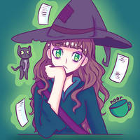 Bored Witch by noorin