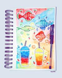 Watercolor Doodles by noorin