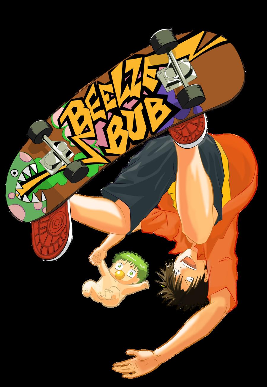 Oga Tatsumi Skateboard - Beelzebub by Hulohotz