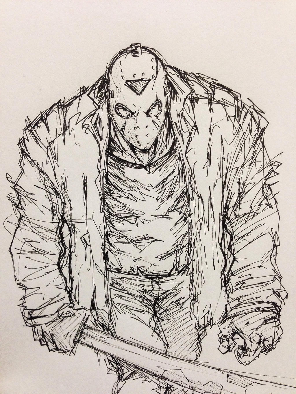 Friday the 13th's Jason Voorhees by harosais1 on DeviantArt Jason Friday The 13th Drawings