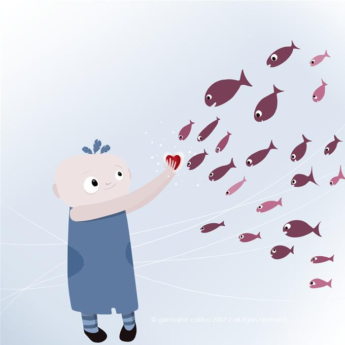 Marcel et les poissons by germaine-en-tongs
