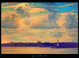 Istanbul under my wing by galipwolkan