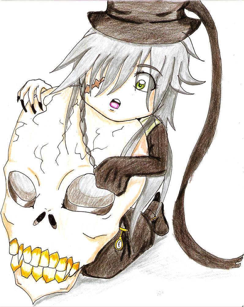 Chibi Undertaker And Skull By 25animeguys