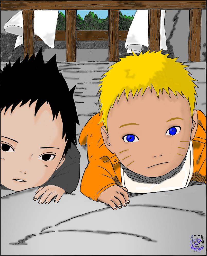 Baby Naruto and Sasuke by ShaunSpartan on DeviantArt