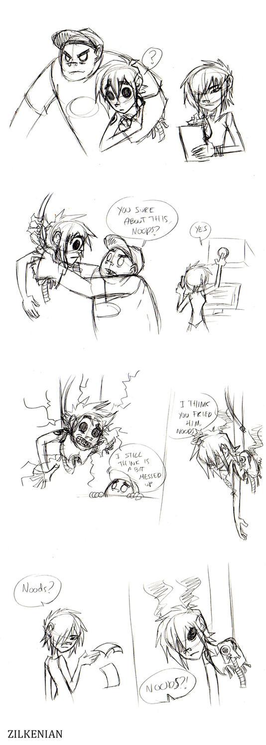 Gorillaz: I think you fried him. by Zilkenian