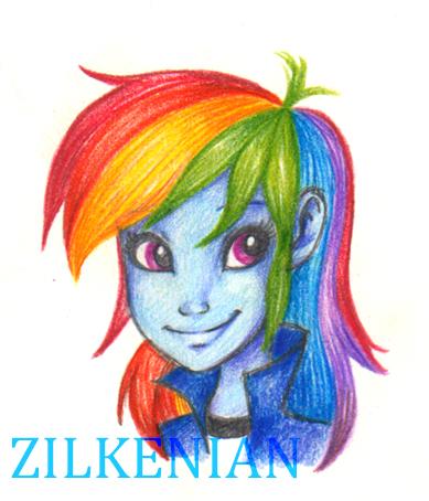 MLP: Rainbow Dash by Zilkenian