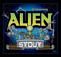 Alien Stout Label