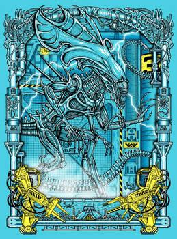 Queen Alien Print