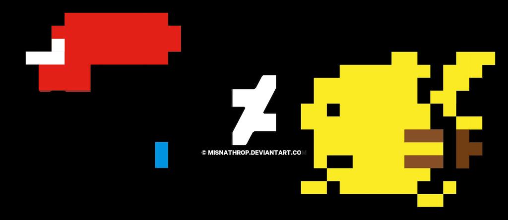 8 bit PokeDunk Ash  Pikachu by Houggie by Houggiebear