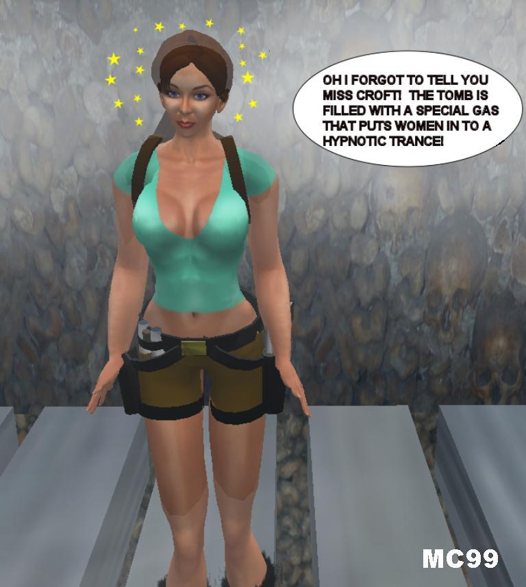 Hypnotised woman to strip 1