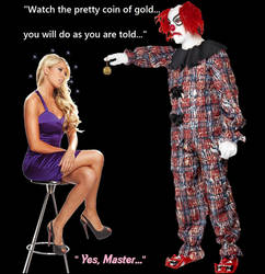 Kelly Kelly Meets The Ghost Clown