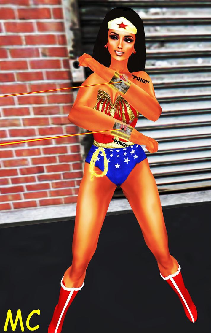 Kim Kardashian As Wonder Woman by The-Mind-Controller