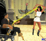 Isis Hypnotized To Dance For Black Adam