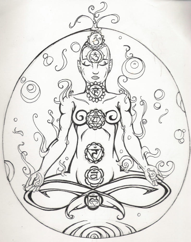 chakra mandala printable coloring pages - photo#33