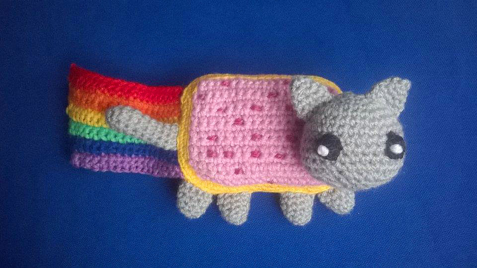 Nyan Cat amigurumi   Crochet cat, Cat amigurumi   539x960