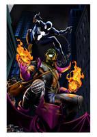 Black Spider and Green Goblin by vinigp