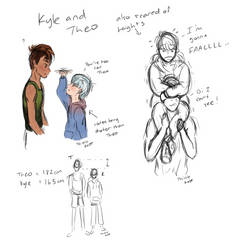 Kyle and Theo Doodles by thistlekatt