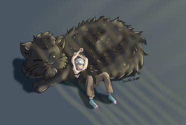 Kyle and Scruffy Soot by thistlekatt