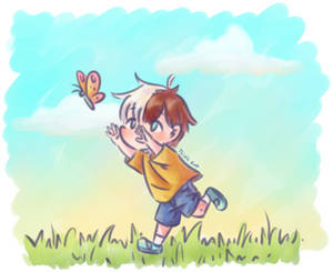 Young Todoroki and Butterfly