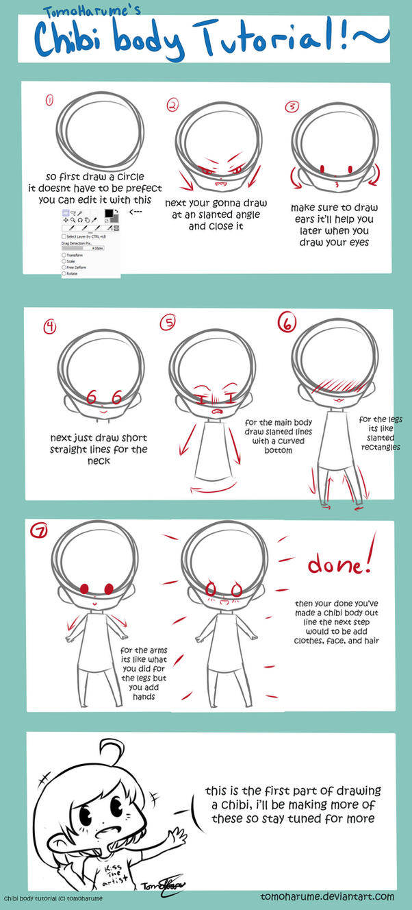 Chibi Body Tutorial [part 1] by tomoharume