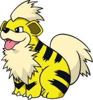 Shiny Growlithe Global Link Art by TrainerParshen