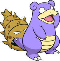 Shiny Slowbro Global Link Art by TrainerParshen