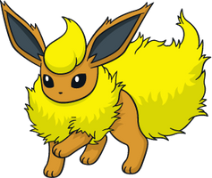 Shiny Flareon Global Link Art by TrainerParshen